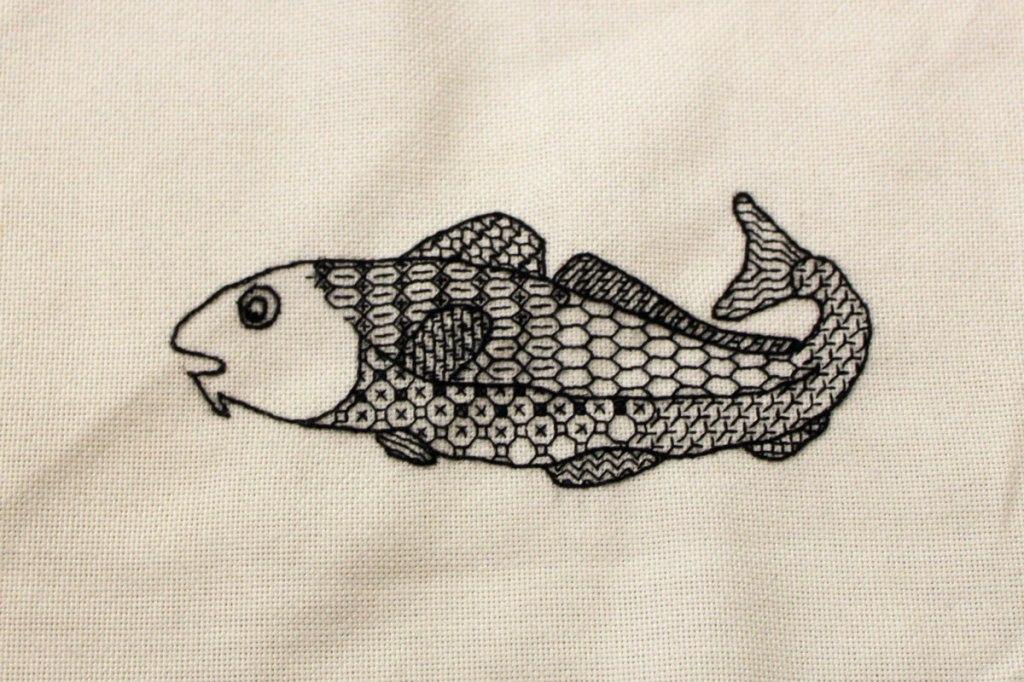 Codfish in Blackwork