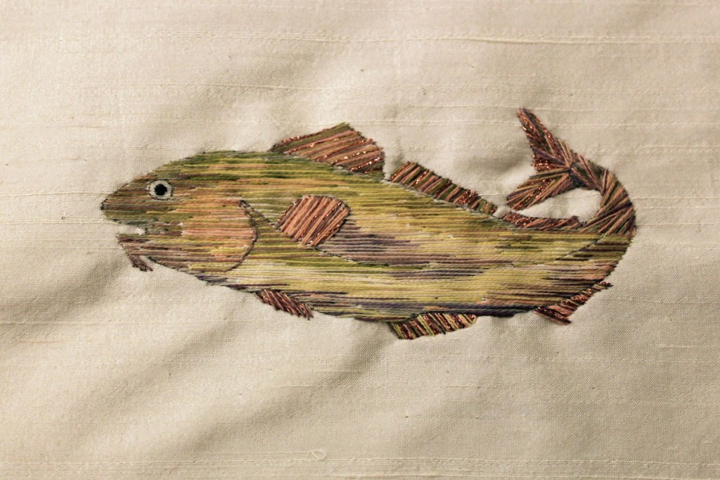 Codfish in Needlepainting