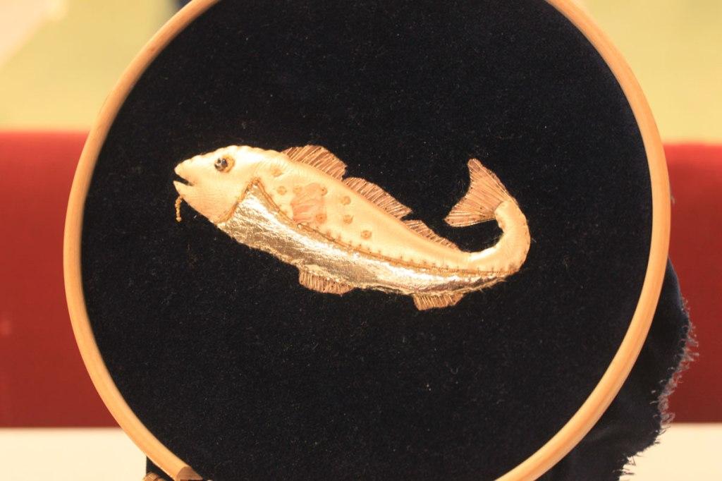 Codfish in Goldwork