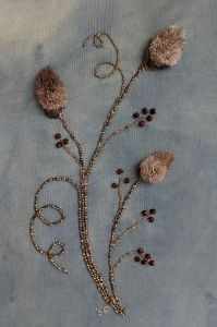 Embroidery Design of Caribou Tufting and Gold Work